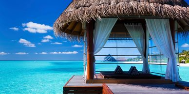 Enjoy your own cabana Bora Bora style!