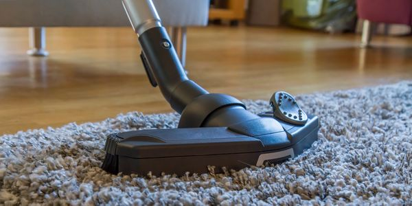 Carpet machine demonstrating cleaning of area rugs