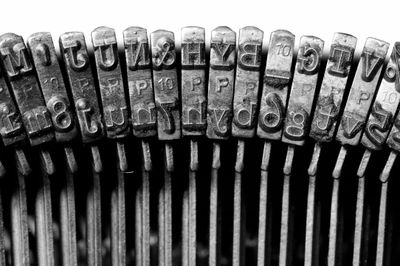 An image of the inside of typewriter keys