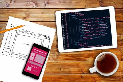 HTML code and webpage layout