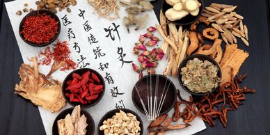 Acupuncture needles and herbs