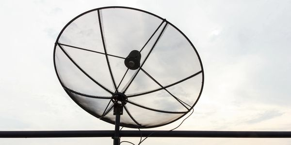 Satellite TV dish.