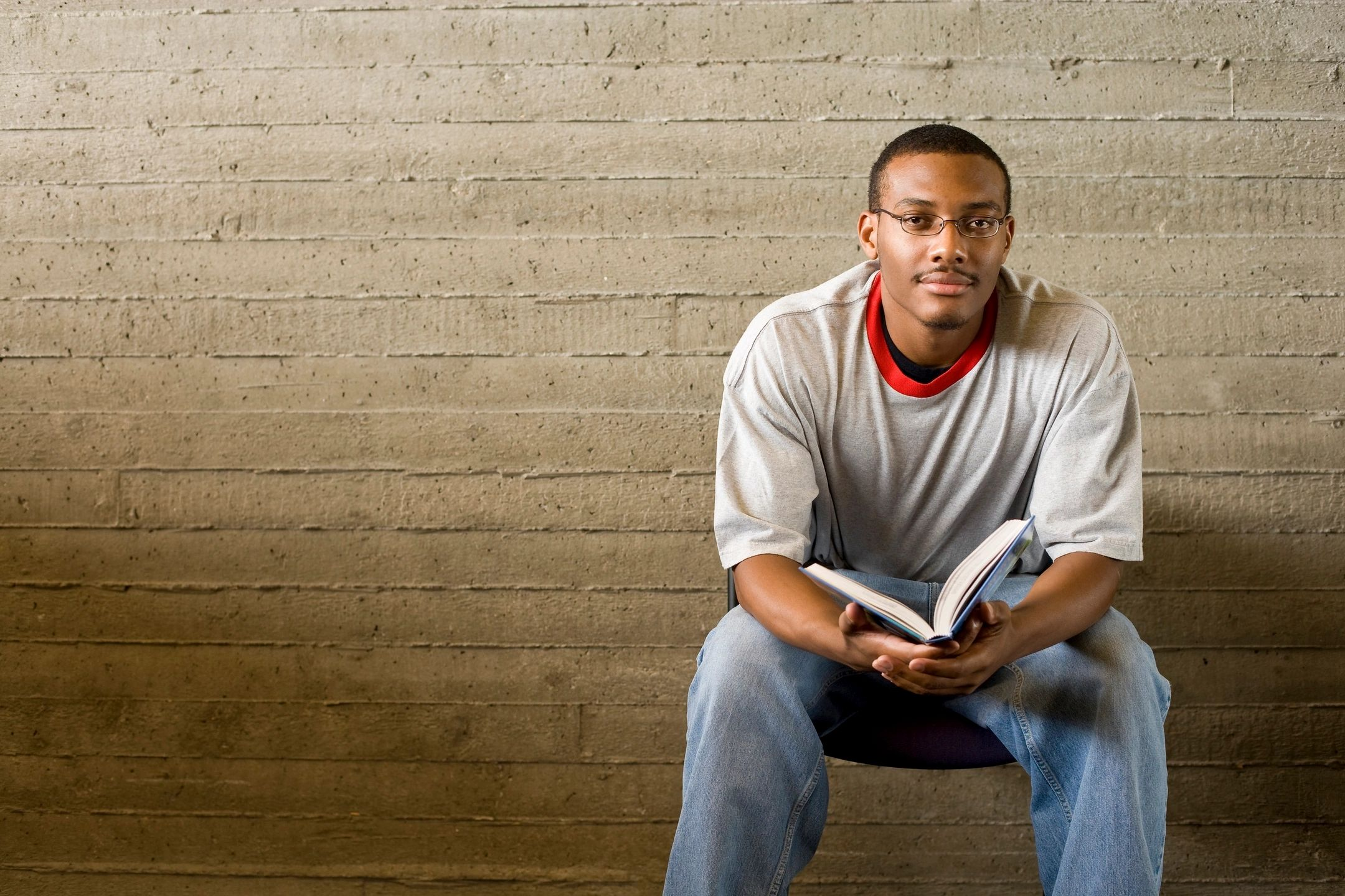 black man reading
