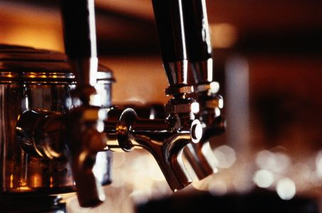 Beer on tap at the Virginia beer museum. Multiple different types of beer tastings available