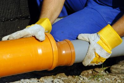 Underground water service line repair and replacement. Good Ol'Boys Plumbing 678-954-7611