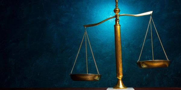 Scales of Justice on a table