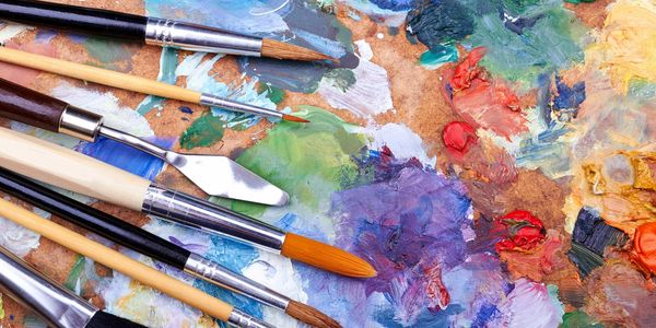 Paint is therapeutic!  Ground the senses and calm the mind with group paint classes.