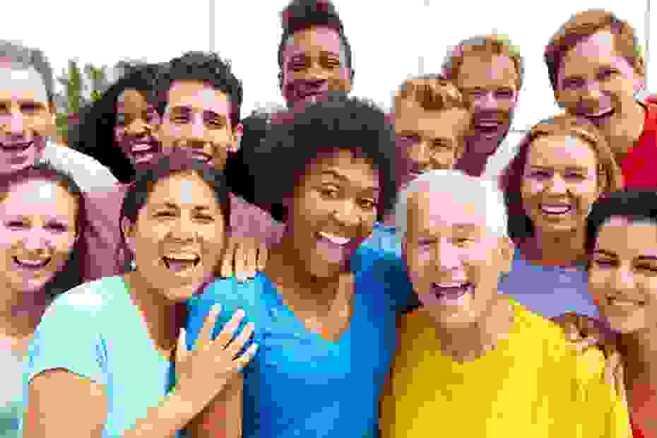 Image of a diverse group of adults from all ages and stages of life.