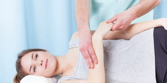 Chattanooga Chiropractor treating arm pain.