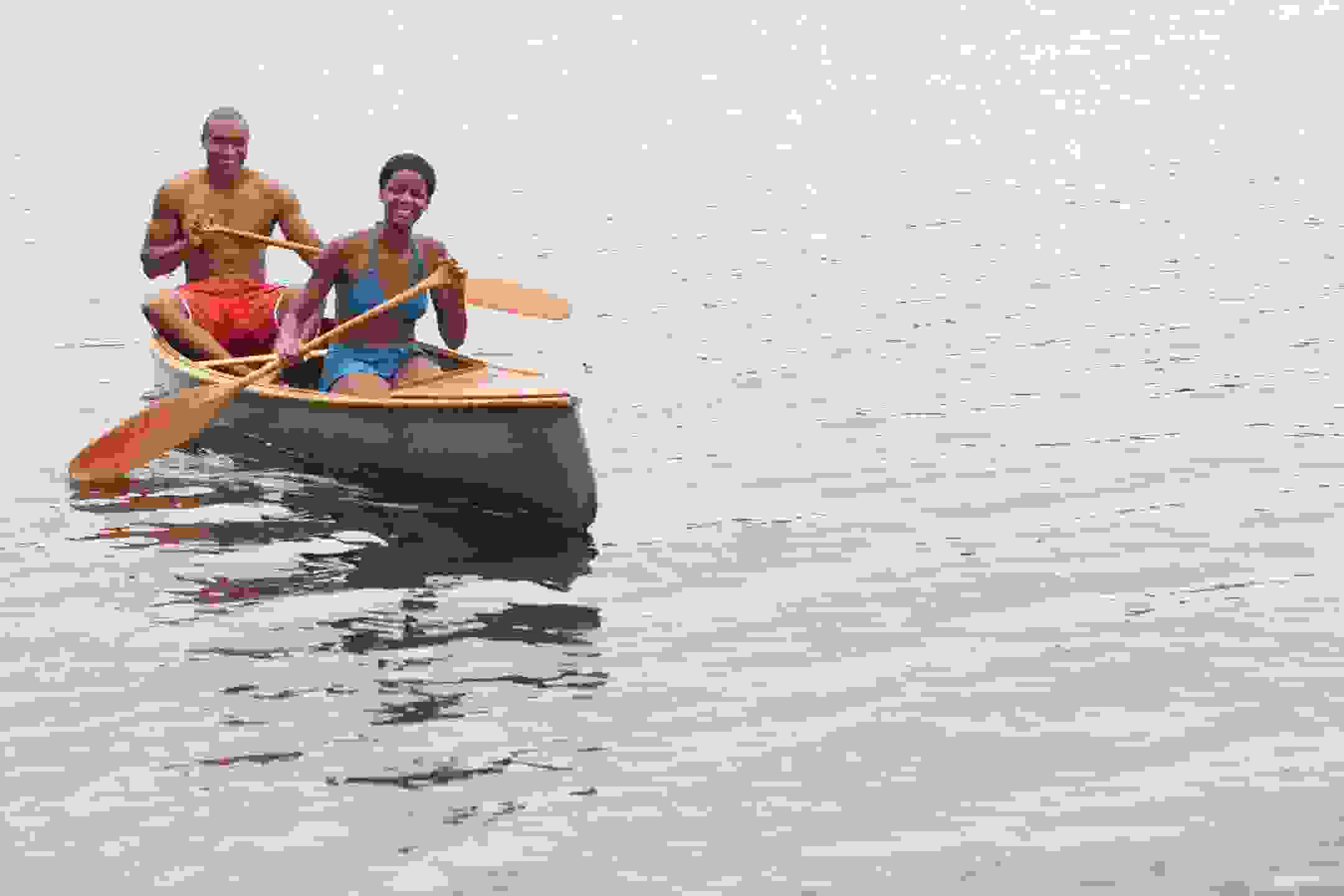 Black Couple Canoeing