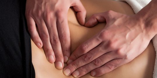 Back pain relieving chiropractic treatment