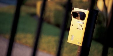 Gate intercom and phone.  Gate access systems.