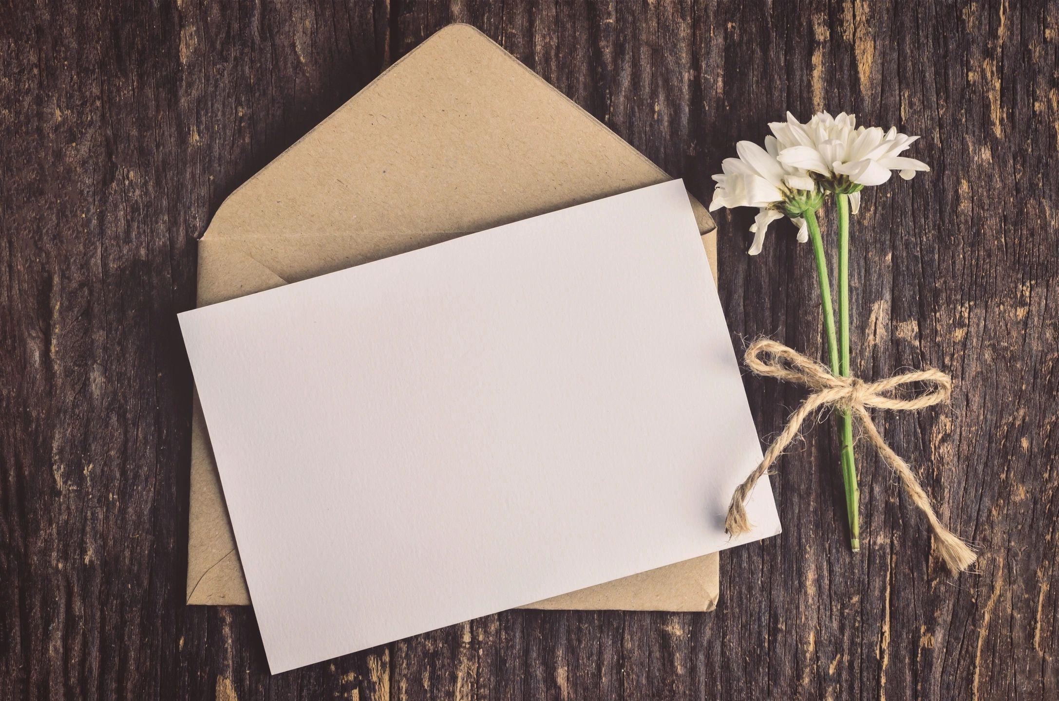 Февраля, открытка белая пустая