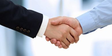 Handshake to portray business development and sales