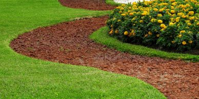 Edged landscaping
