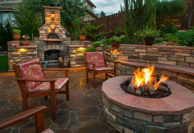 Outdoor rock patio Kennewick