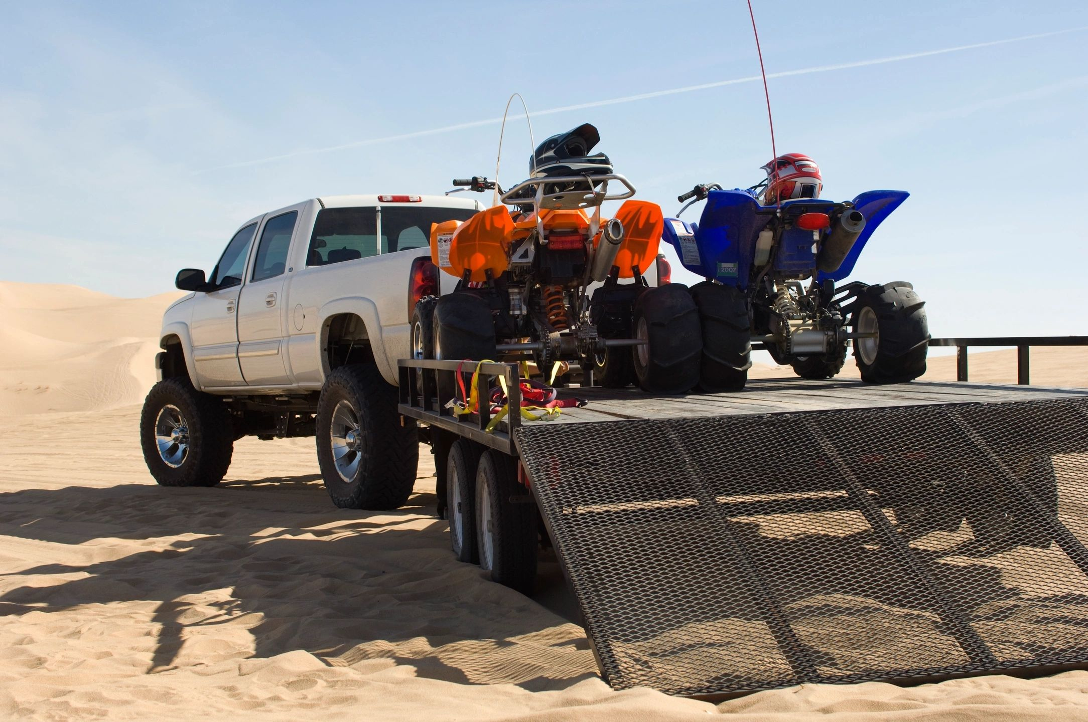 ATVs on a Trailer at the Dunes