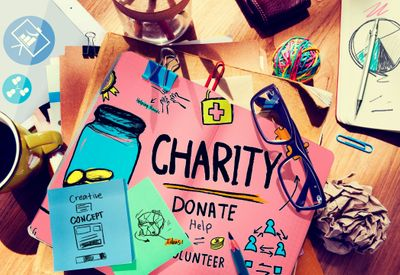 Colourful posters and ideas for charity fundraisers