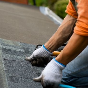 Installing shingles for complete Roof Installation