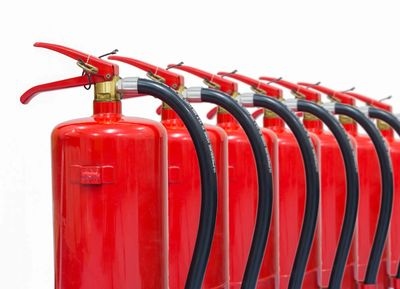 Supplies fire extinguishers