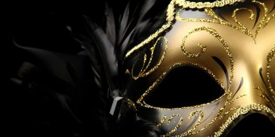 Black Cat Ball at Westminster Hall, wine & rose masquerade