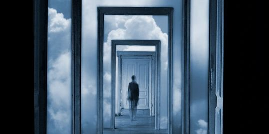 Person Walking Through Doors Psychiatry