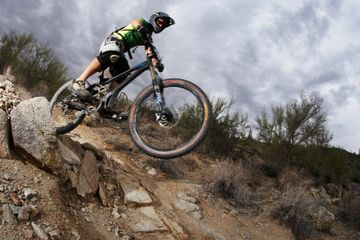 Mountain Bike Dropping In
