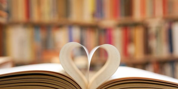 Book with heart image