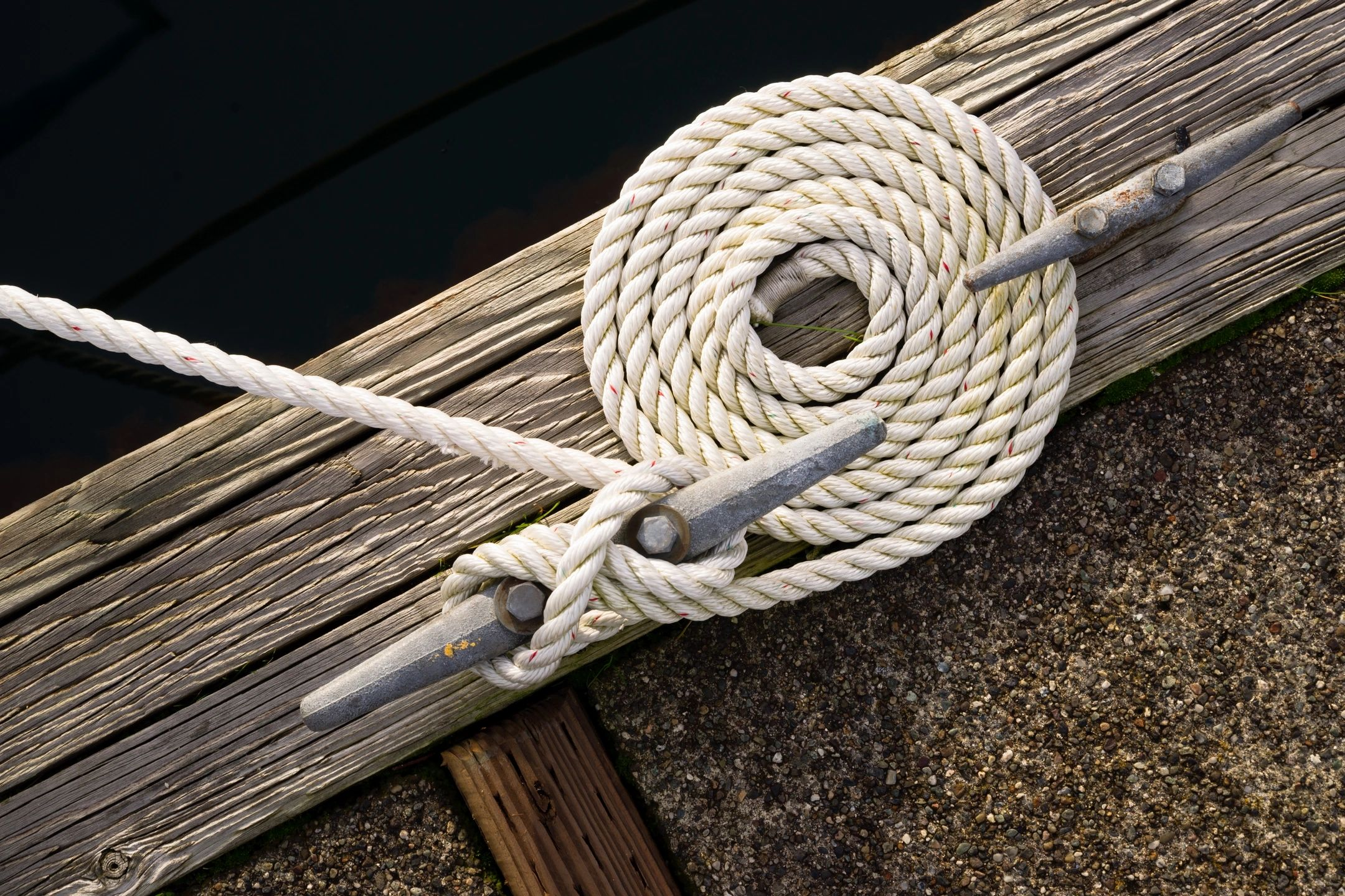 boat dock with rope