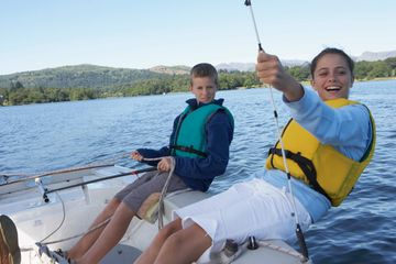 Local guided Sailing Lessons in the Gulf of Mexico or on Lake Seminole for 4 hours including boat.