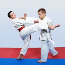 Self defense kids practice how to defend themselves