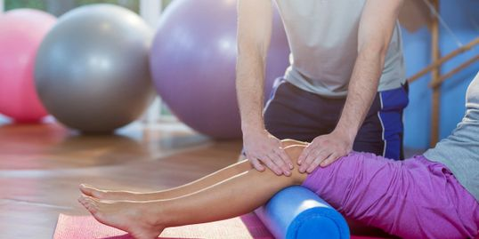 Physical therapy to aid in recovery of an injured knee