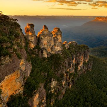 """The Three Sisters"" im Blue Mountain Nationalpark bei Sydney"