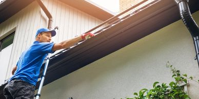 rain gutter cleaning and repairs