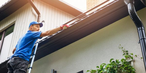 Gutter cleaning and repair.