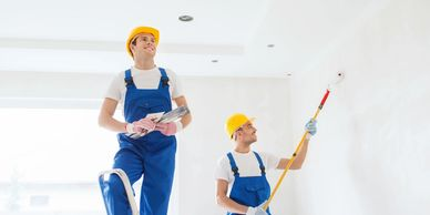 Interior and Exterior Painting and Wall Covering Contractors on Federal renovation in Washington DC