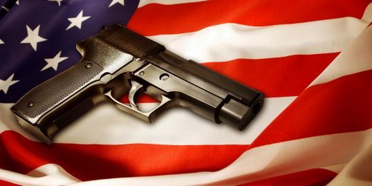 American Flag with handgun. guns ammo freedom training firearms dealer local gunshop