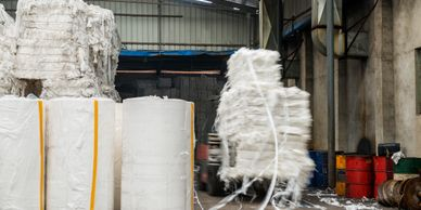 Dry pulp to allow for it to be recycled or used as secondary product or fuel