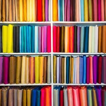 We offer a large selection of fabrics and colors to make your product.