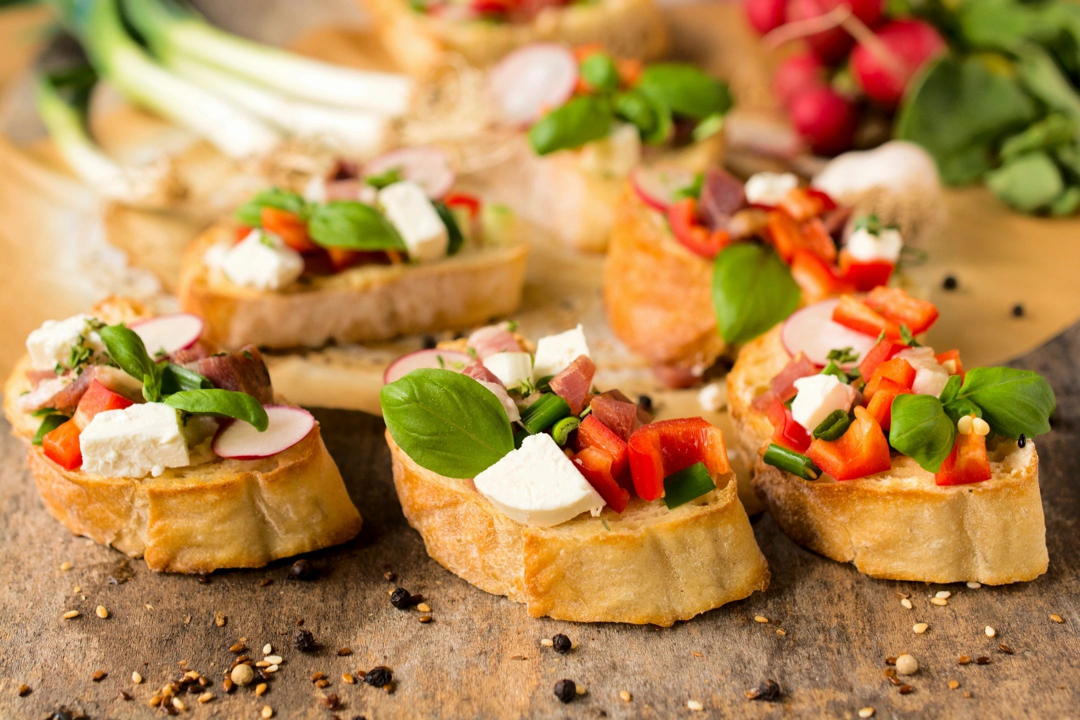 Happy Hour Catering in Chicago with Tomato Bruschetta