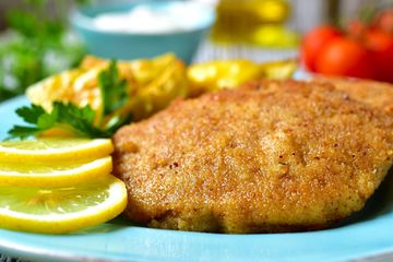 Crumbed Meat and seafood