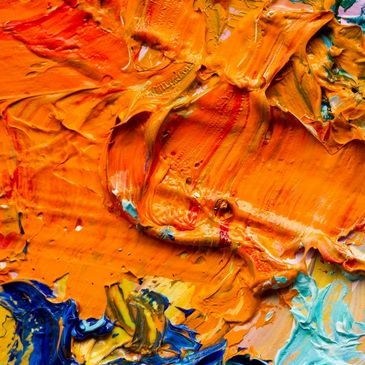 Image of paint in a palette.