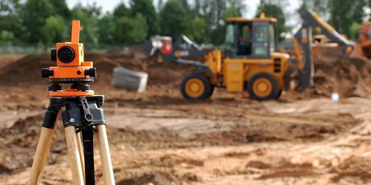 Surveying on construction sites