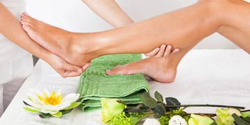 foot massage. reflexology. foot scrub