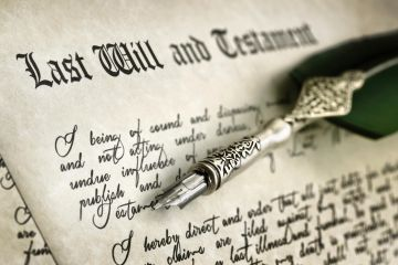Last will and testament, simple will, bequest, bequeath, beneficiary, inheritance, estate, probate