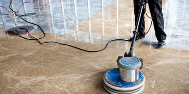 Floor buffing, floor washing, marble restore, marble polishing, floor care services.