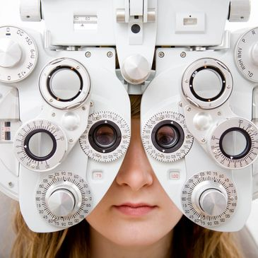 one of many instruments the eye doctor uses to examine patient's vision. It helps the optometrist know if the patient sees well with one or both eyes, together or separately.