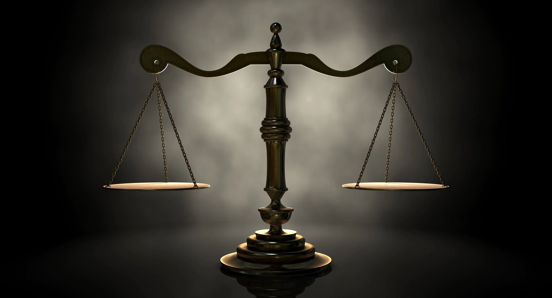 solid brass scale in dim lighting