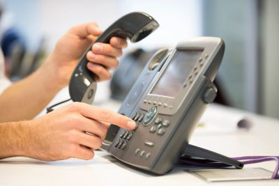 voip telephone in office
