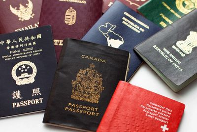 Image of various countries passports.
